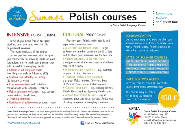 Summer Polish courses_2016